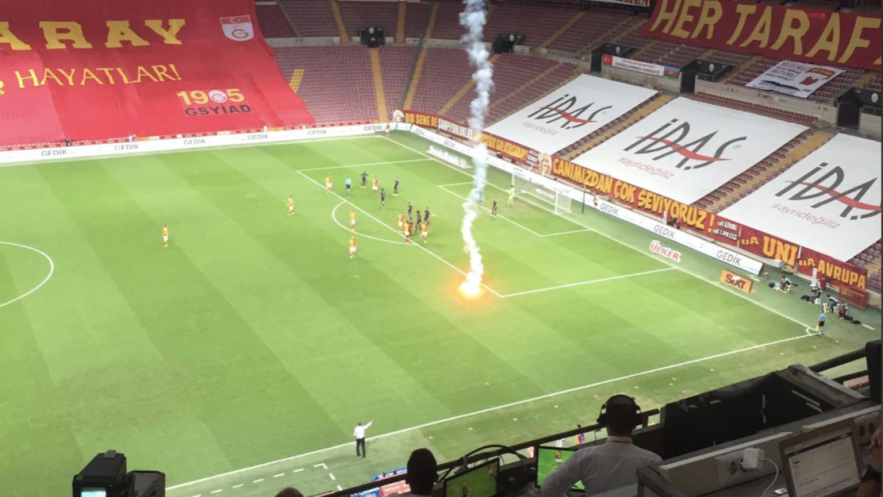 Flare in stadium