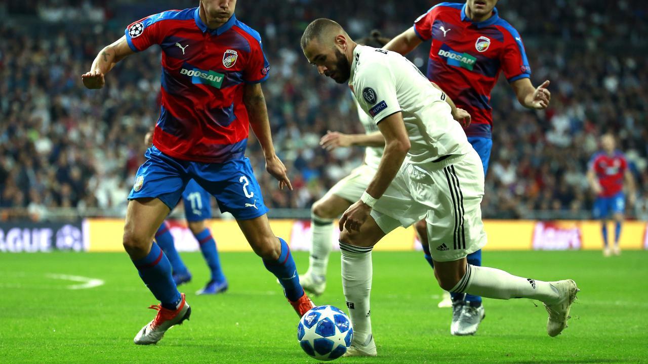 Karim Benzema goal vs Plzen