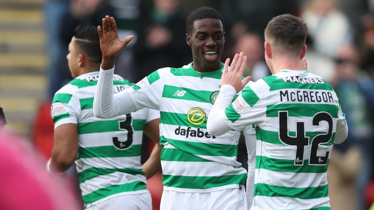 Tim Weah Celtic goal