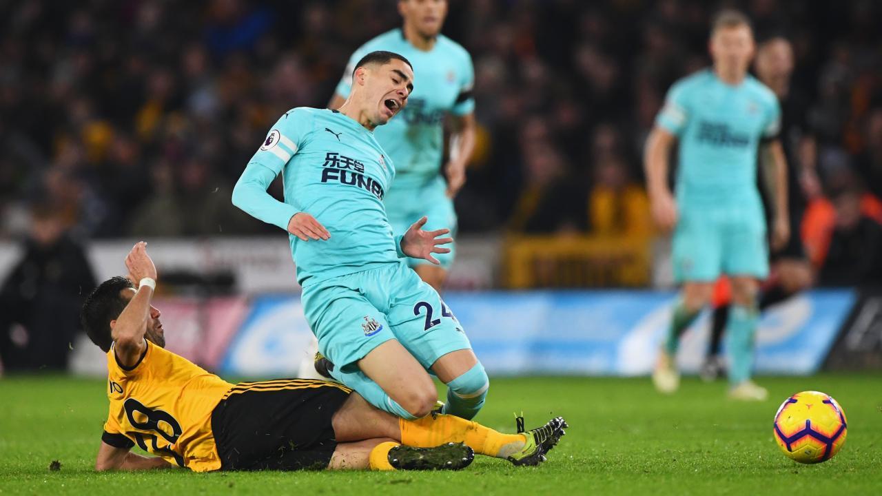 Miguel Almiron Newcastle debut