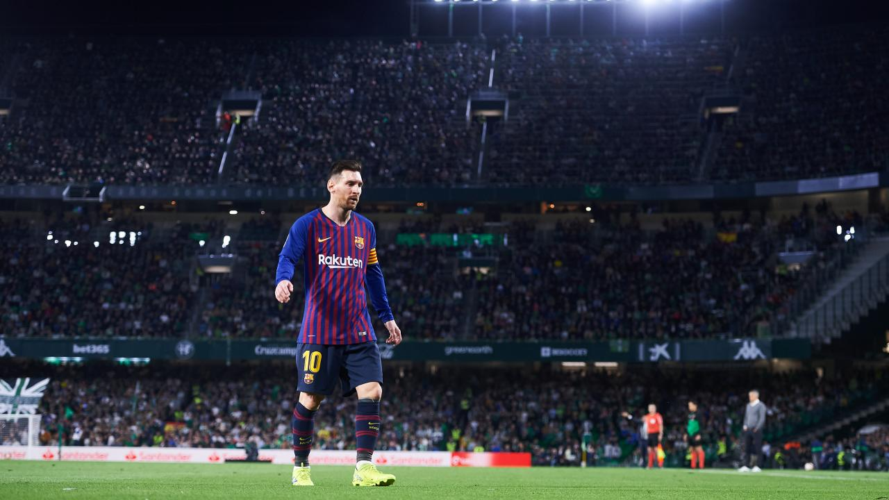 Lionel Messi hat trick vs Real Betis