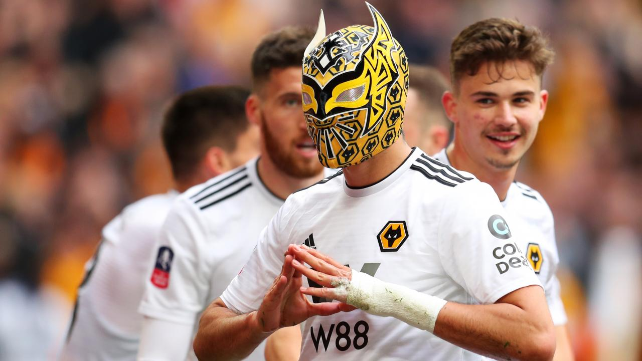 Raul Jimenez mask celebration