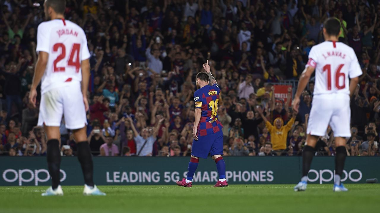 How many goals does Messi have?