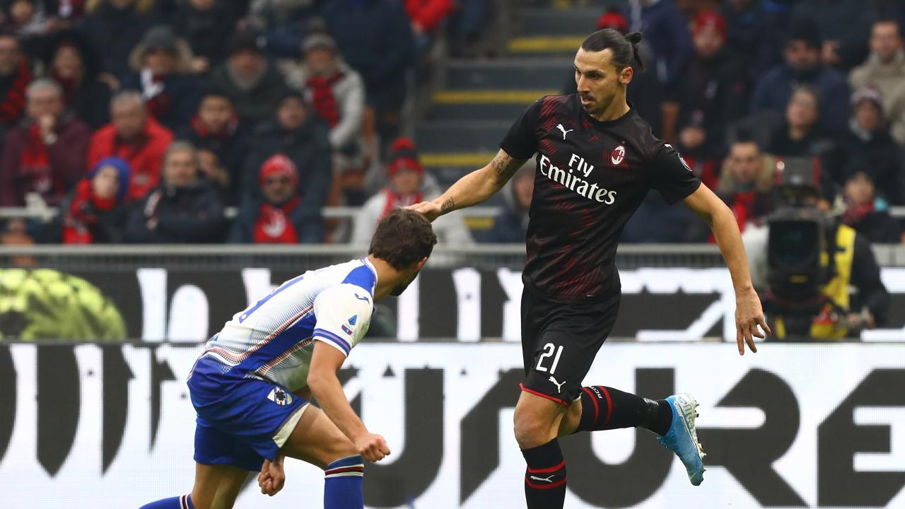 Zlatan Ibrahimovic AC Milan debut 2020