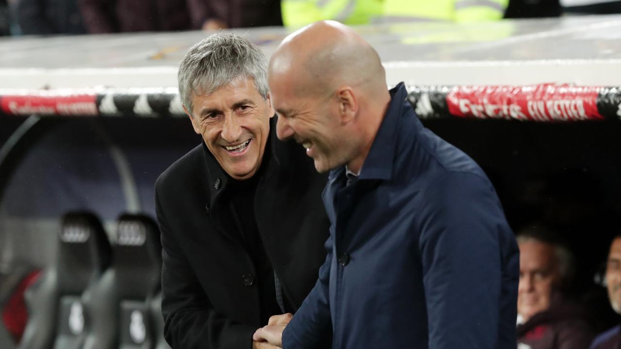 Quique Setien and Zinedine Zidane