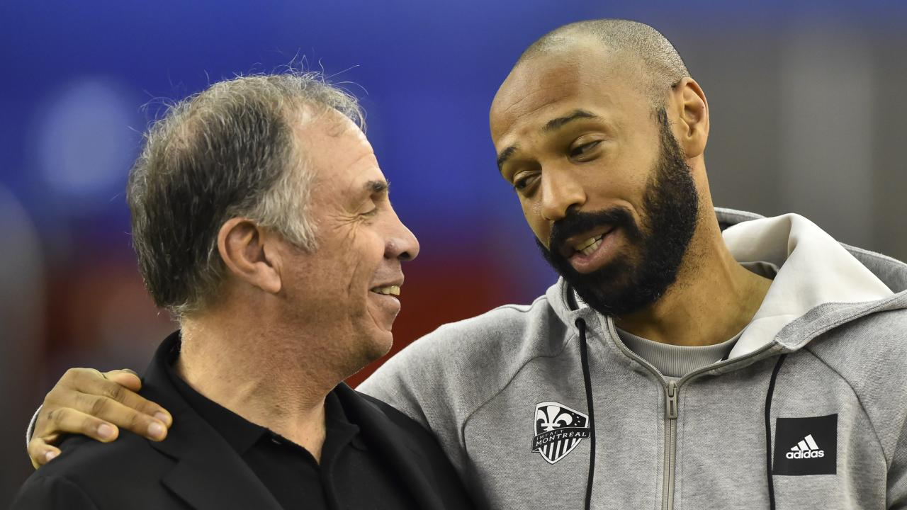 Bruce Arena and Thierry Henry