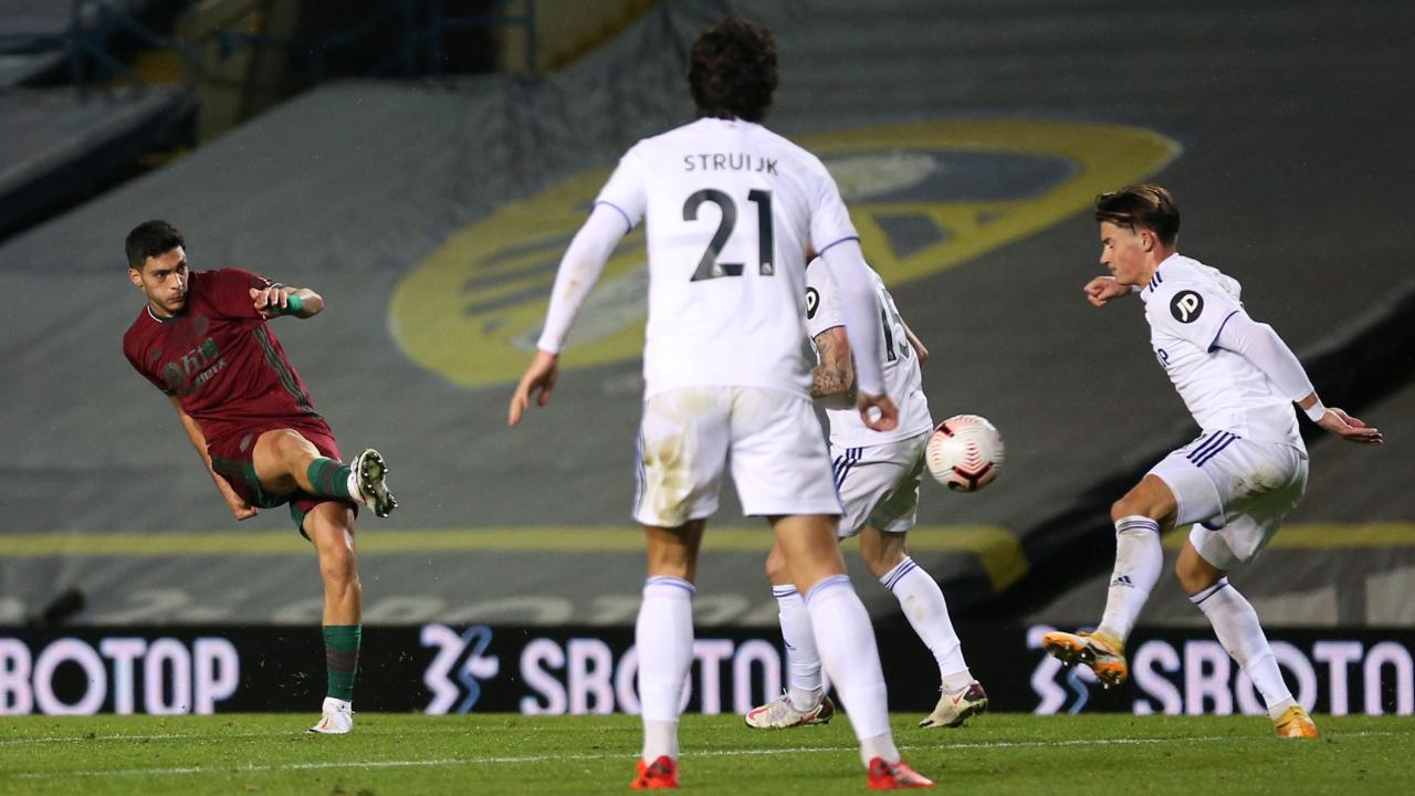 Raul Jimenez goal vs Leeds