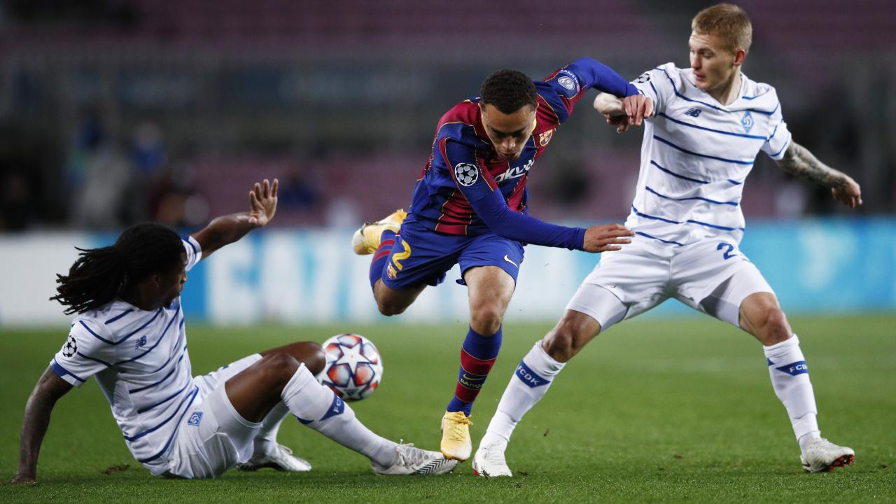 Sergino Dest Barcelona goal