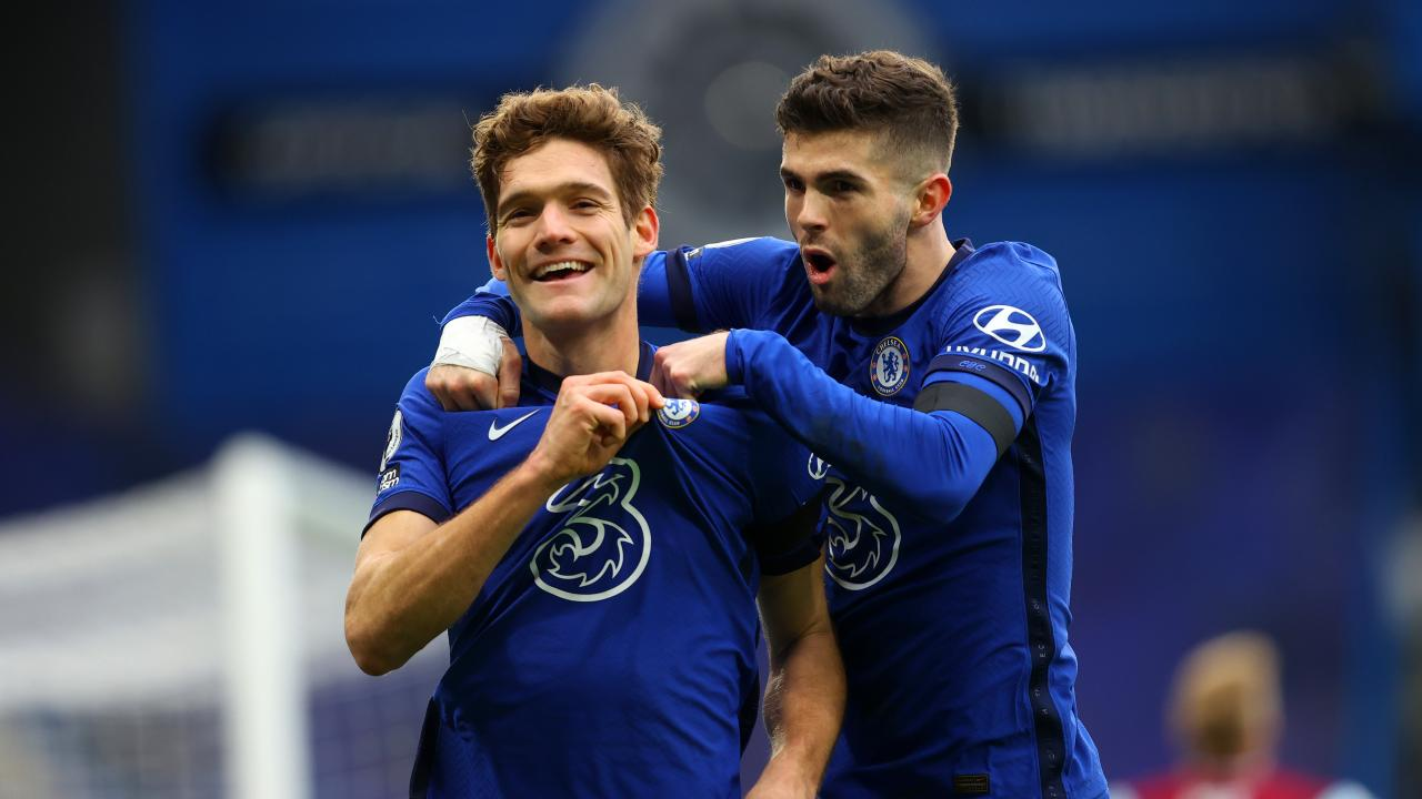 Christian Pulisic and Marcos Alonso