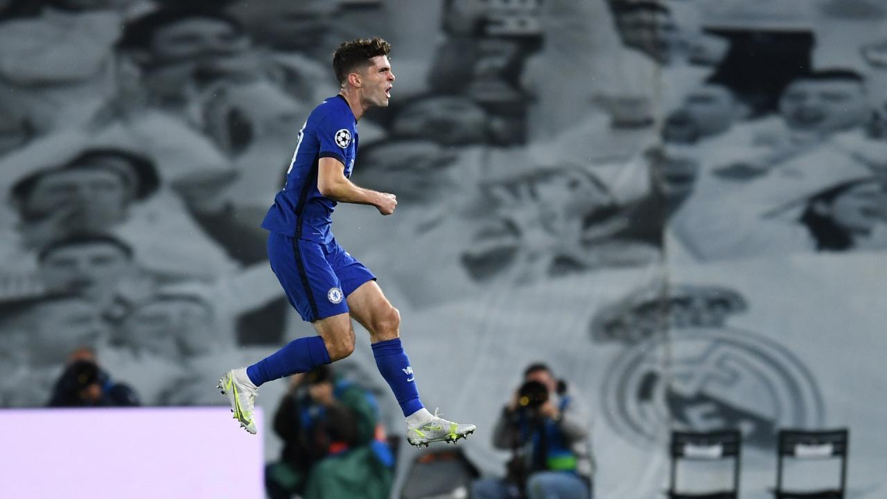 Gol Pulisic Real Madrid vs Chelsea