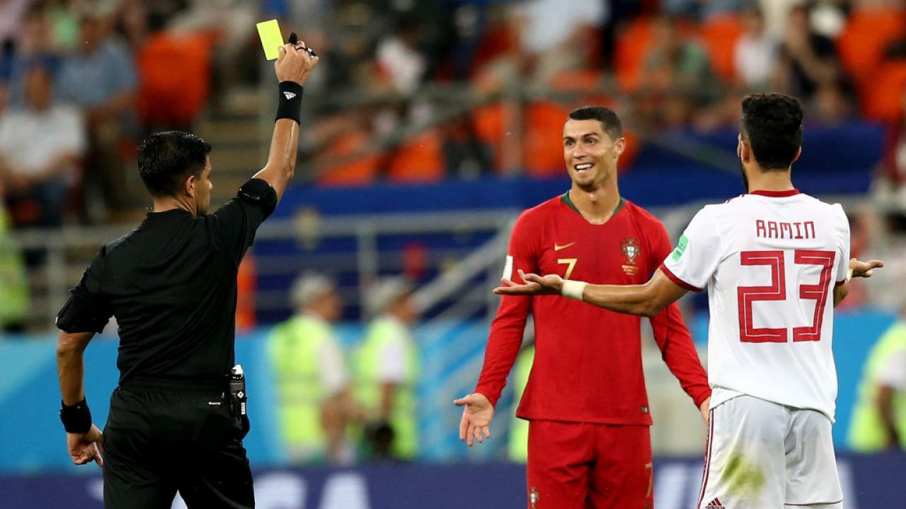 Cristiano Ronaldo elbow vs Iran