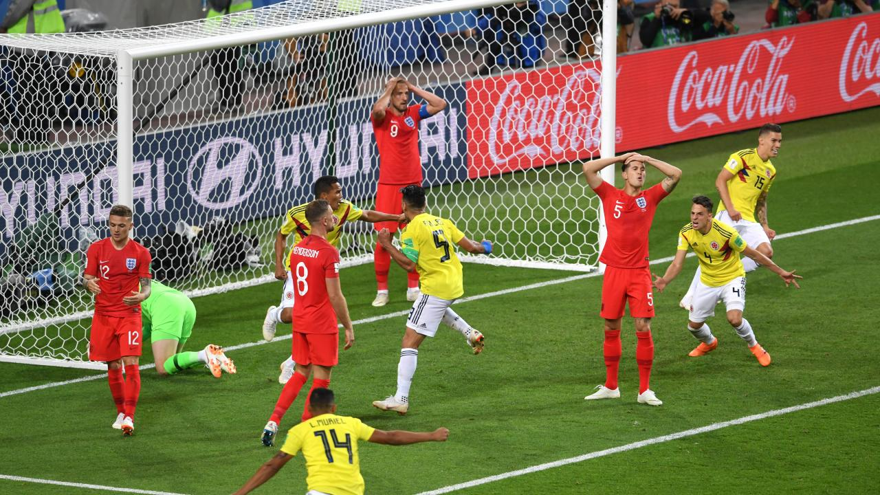 Yerry Mina goal vs England