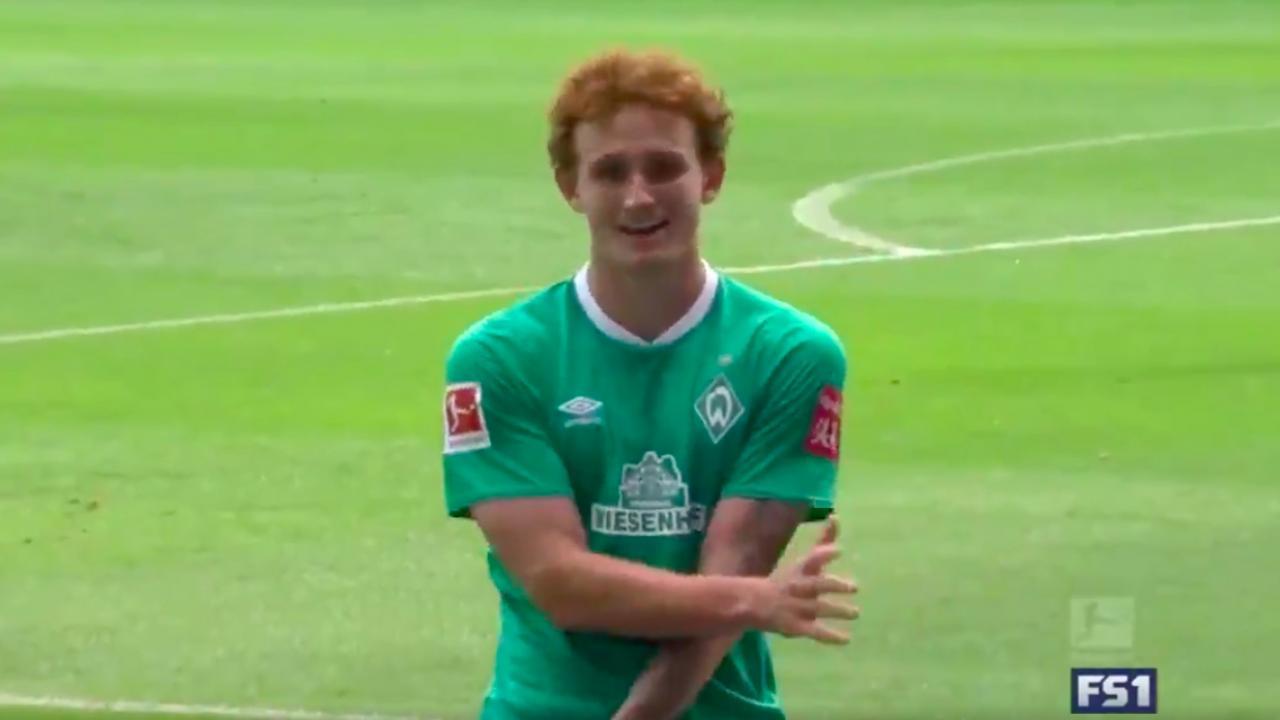 Josh Sargent Werder Bremen goal vs Augsburg