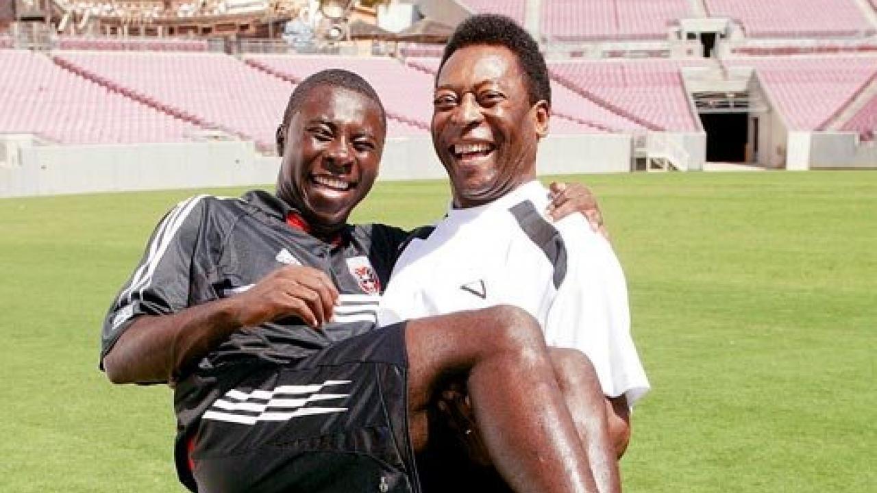 It's Pele and Freddy Adu: A Pele Photo History