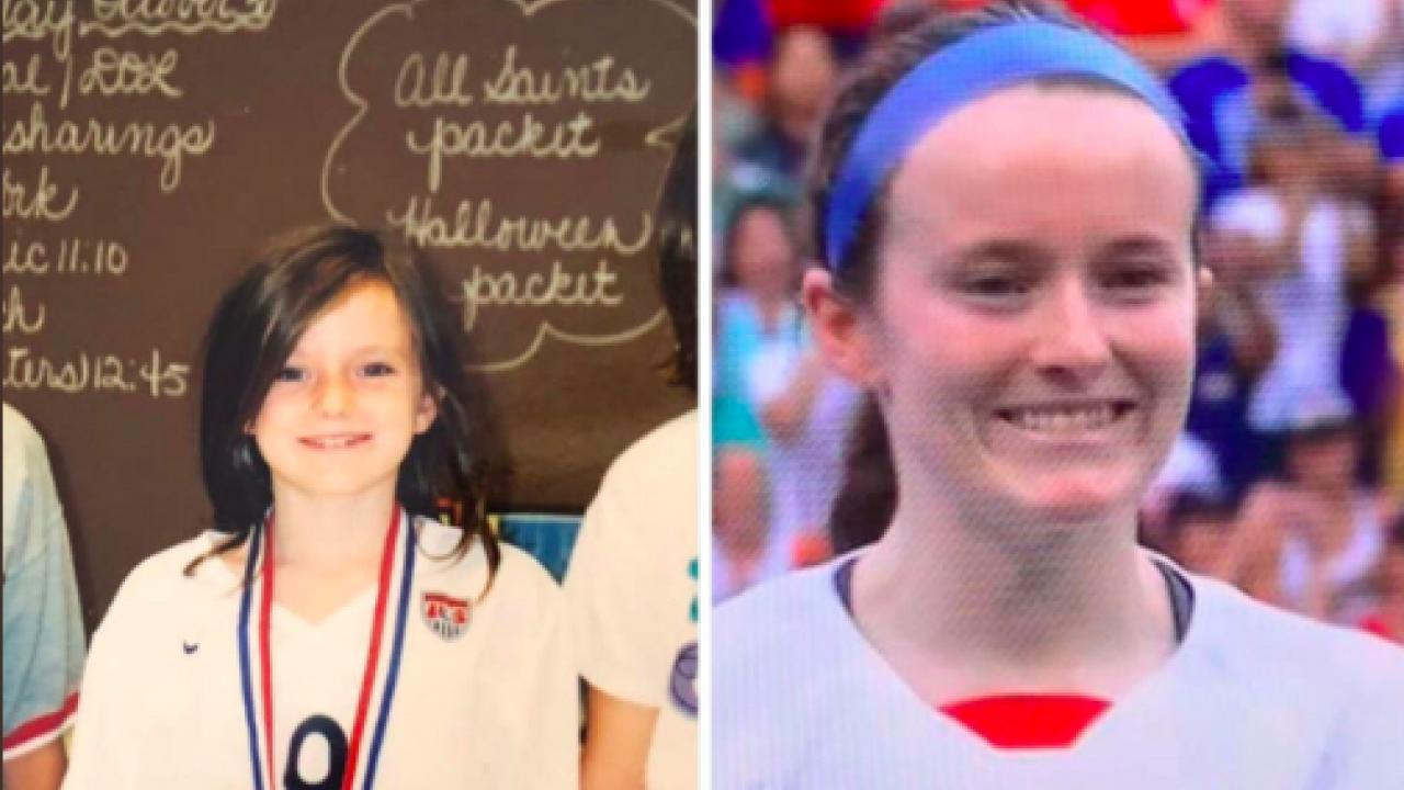 Rose Lavelle and Mia Hamm