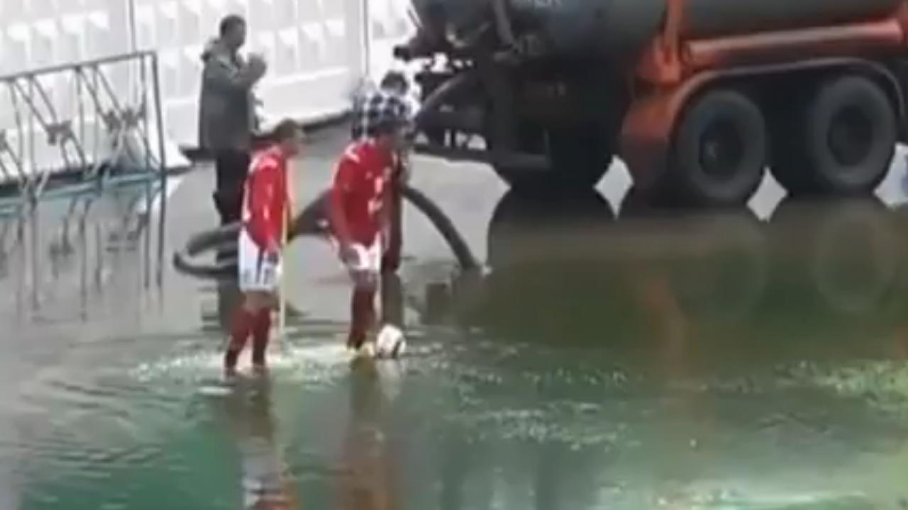 puddle corner kick