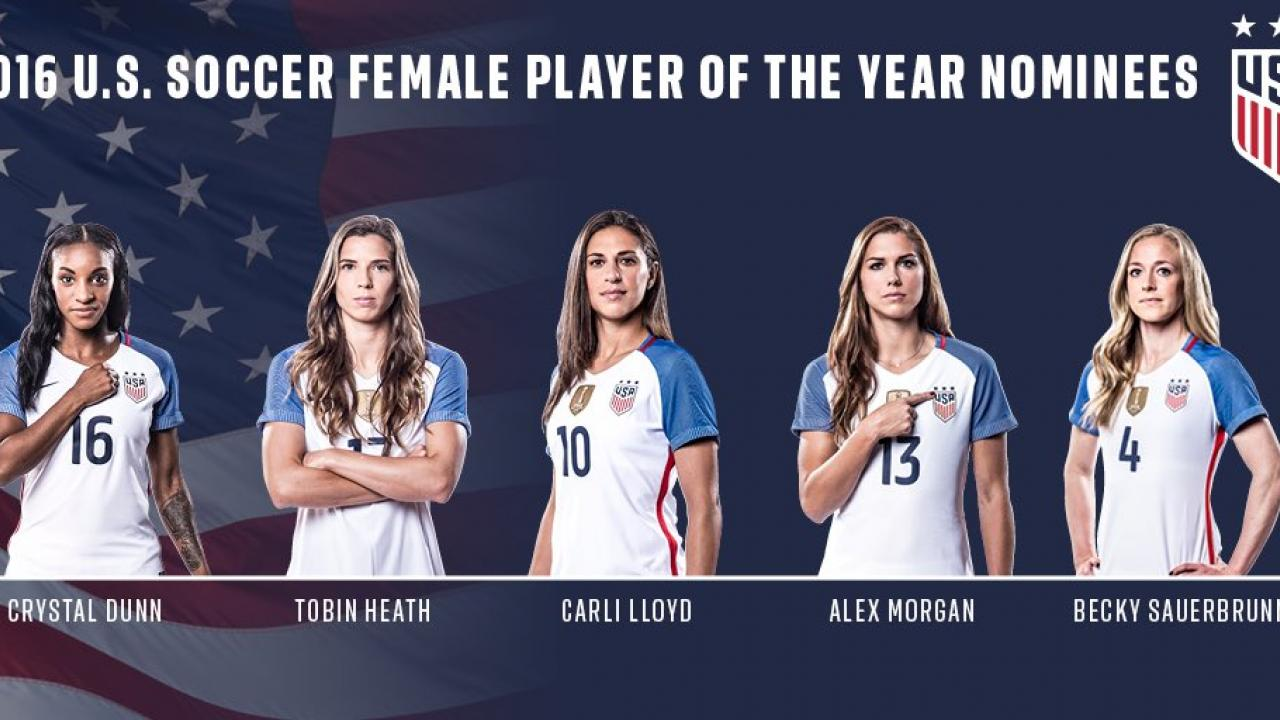 2016 U.S. Soccer Female Player of the Year Nominees