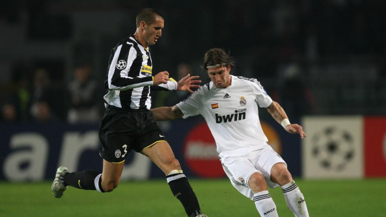 Chiellini And Sergio Ramos