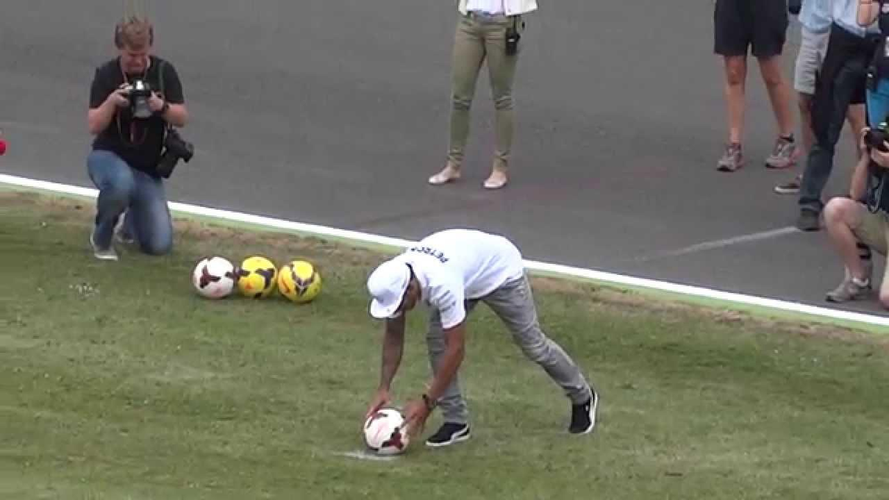 Lewis Hamilton Plays Soccer