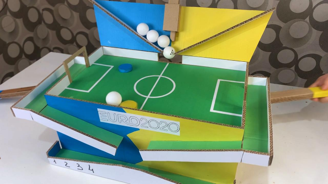 DIY Cardboard Soccer Game