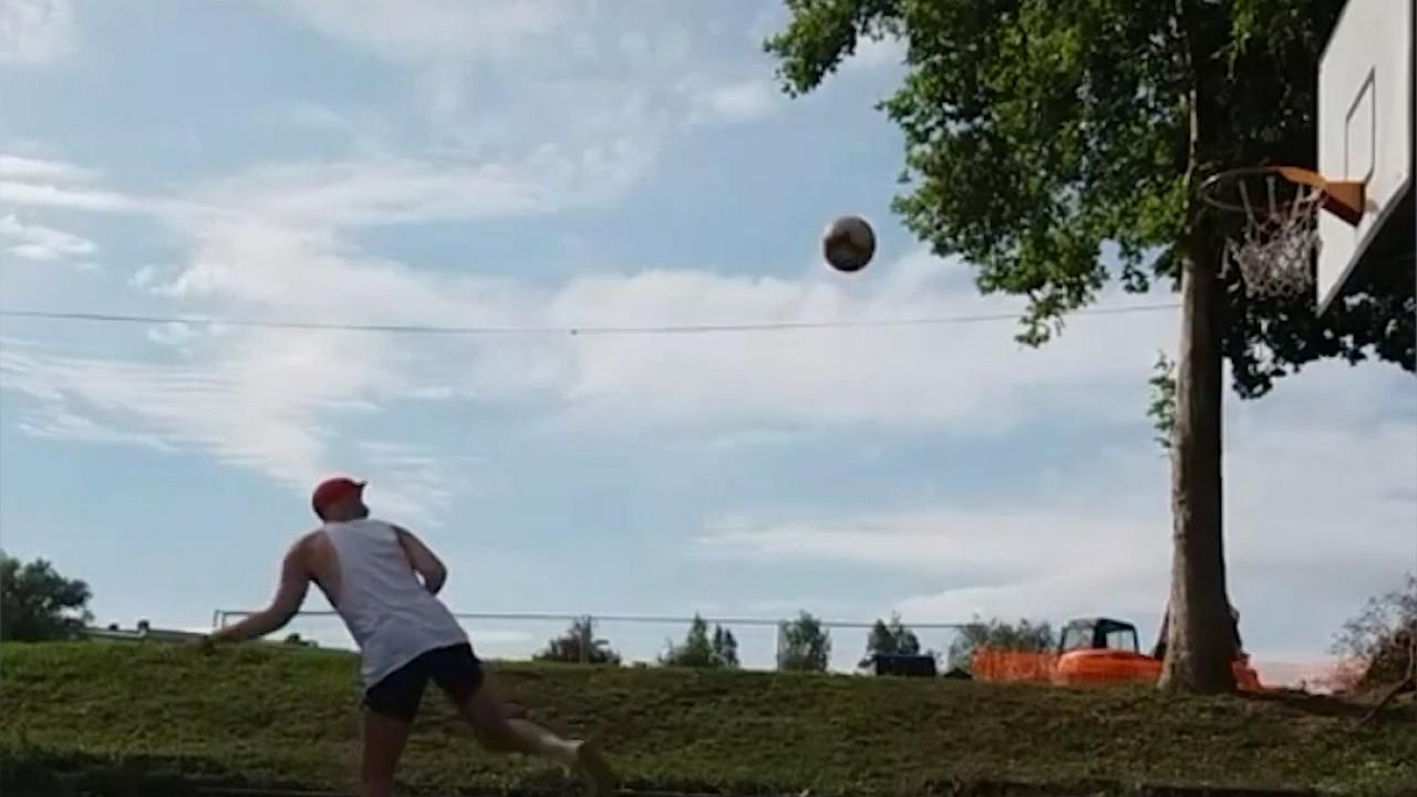 Slovenian Man Shows Off Basketball Soccer Crossover Tricks