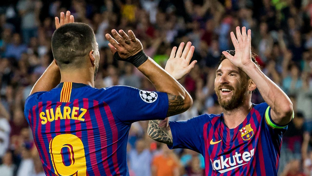 Luis Suárez and Lionel Messi