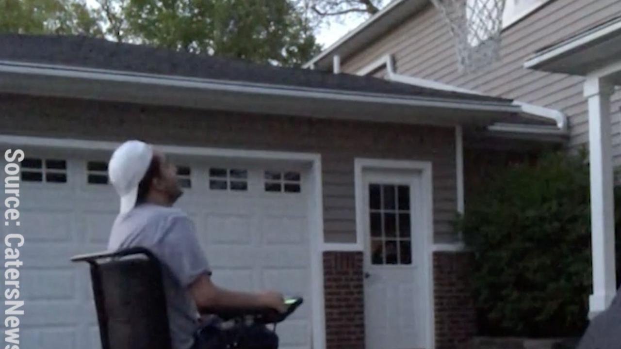 Wheelchair trick shot