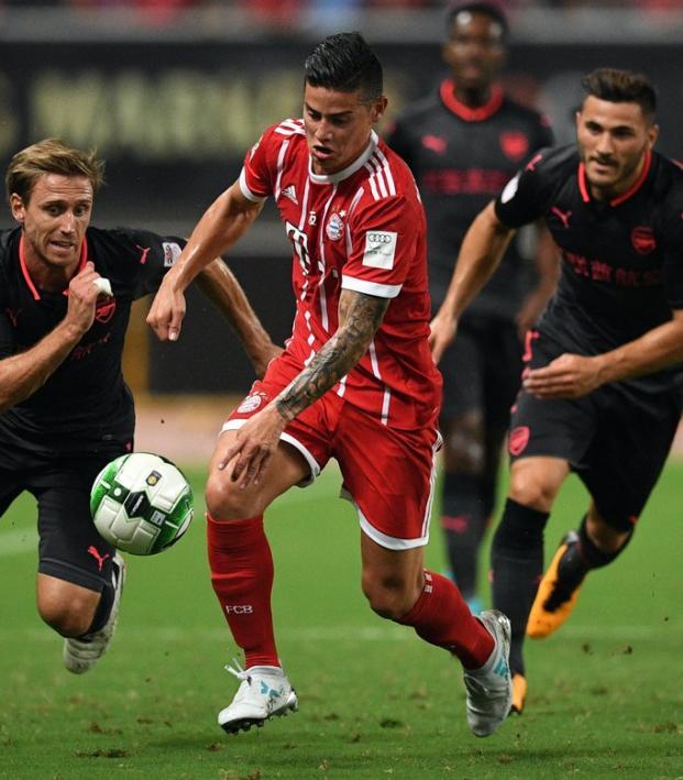 James Rodriguez Bayern Munich VS Arsenal