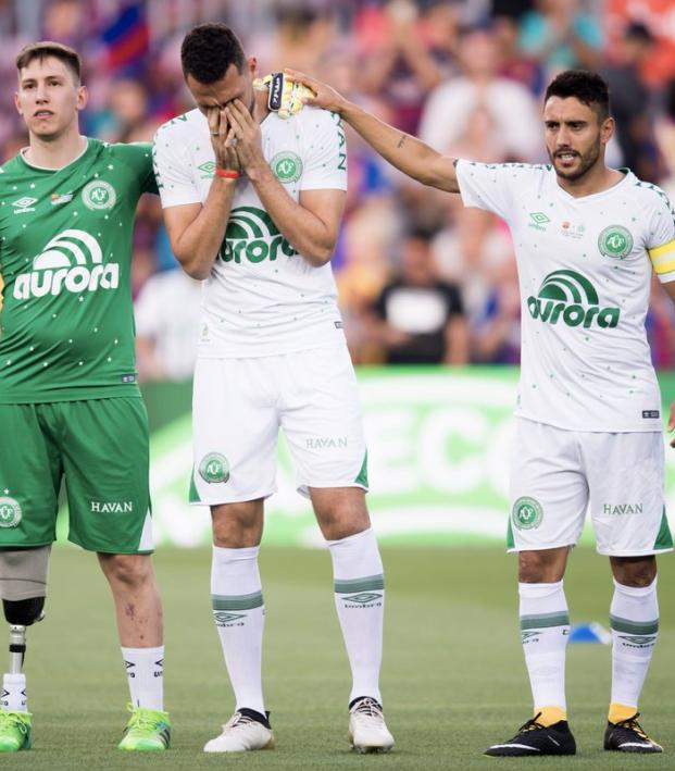 Chapecoense Players Charity Match Against FC Barcelona