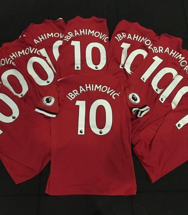 Zlatan Ibrahimovic New Manchester United Number