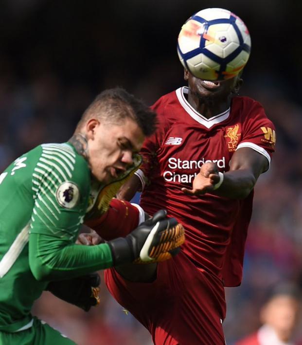 Sadio Mane Red Card Against Ederson