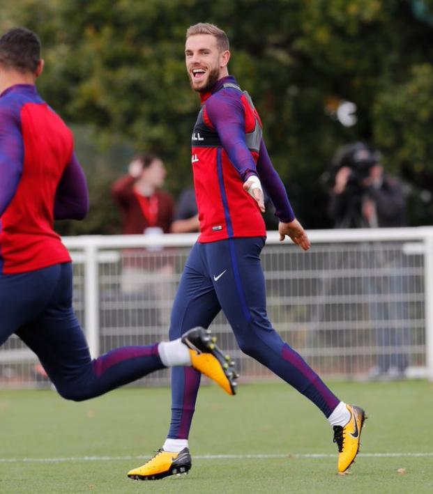 Jordan Henderson England Training