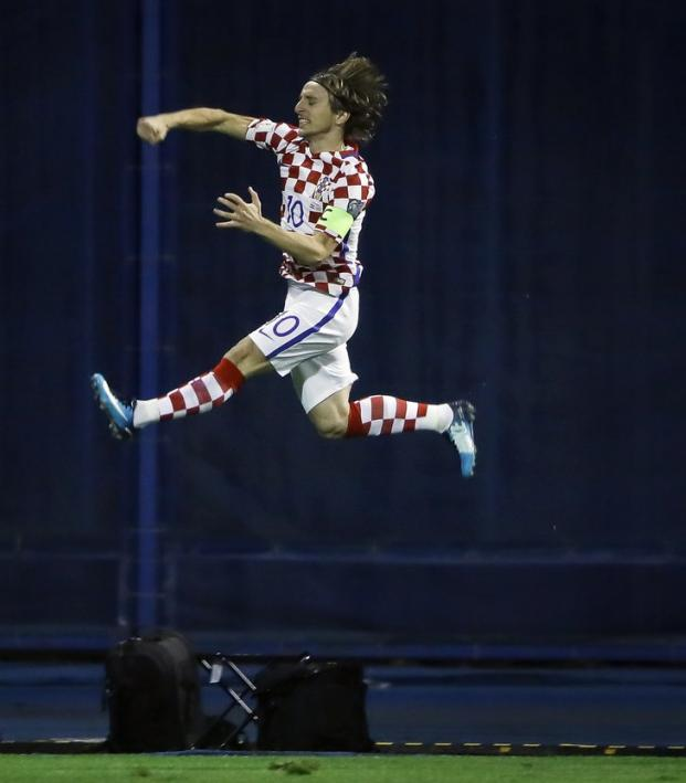 Luka Modric High Jump Croatia