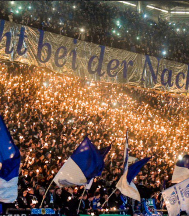 Fc Schalke 04 Fans Are In The Holiday Spirit