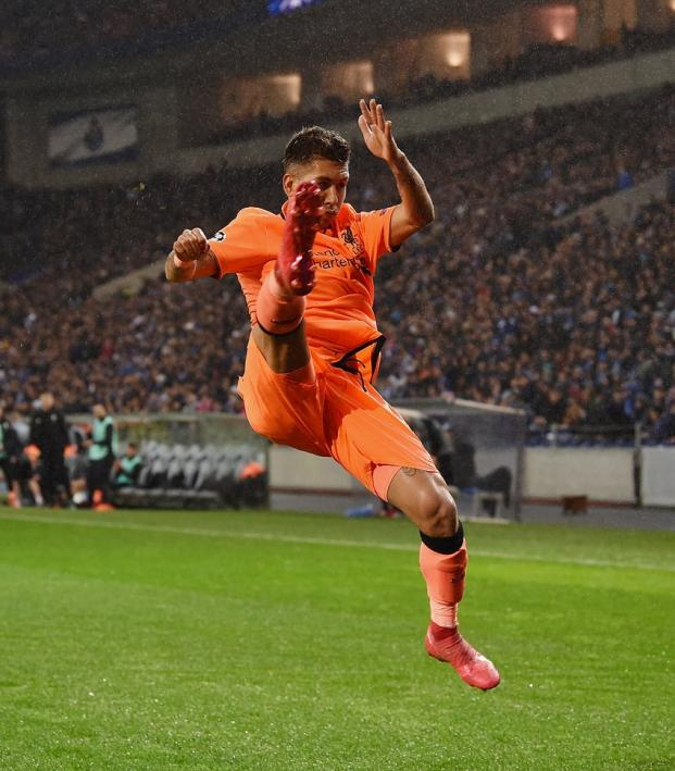 Roberto Firmino Karate Kick Celebration