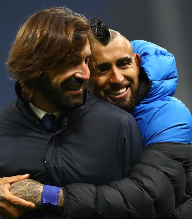 Andrea Pirlo and Arturo Vidal