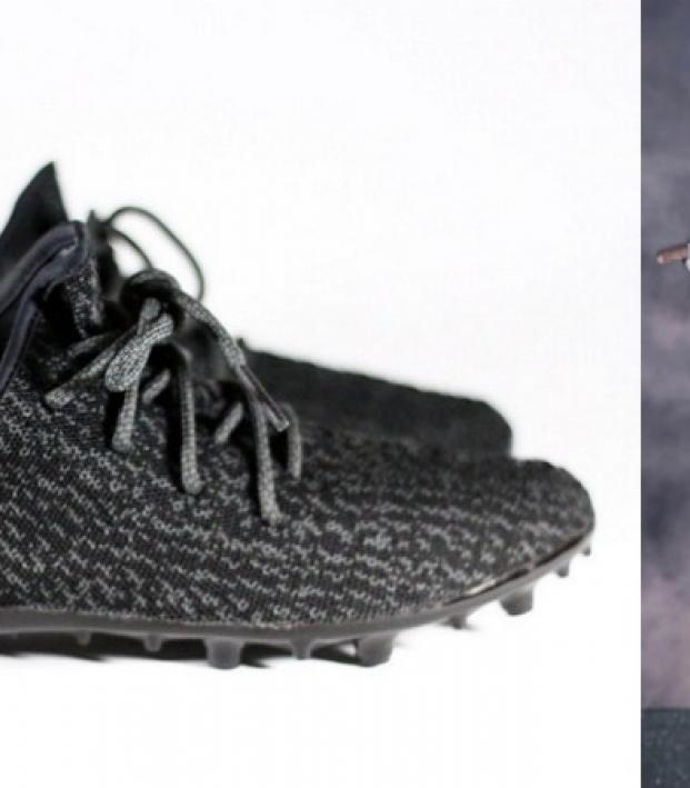 "Yeezy Ace: a pair of ""pirate black"" adidas Yeezy Boost 350s"