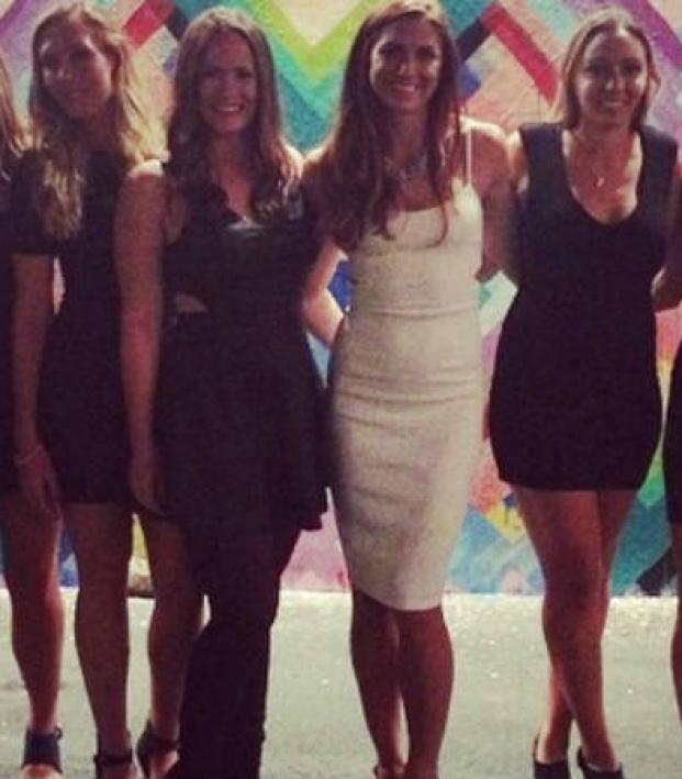 Alex Morgan of the USWNT at her bachelorette party