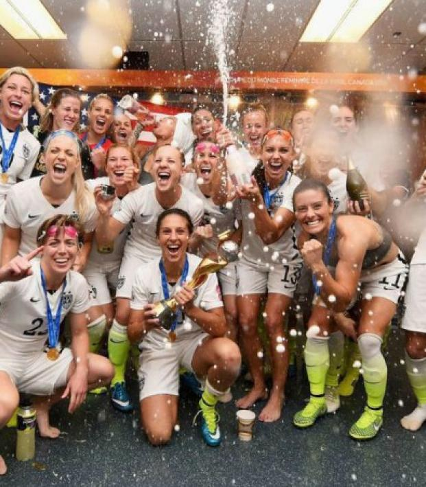 the USWNT is popping champagne.