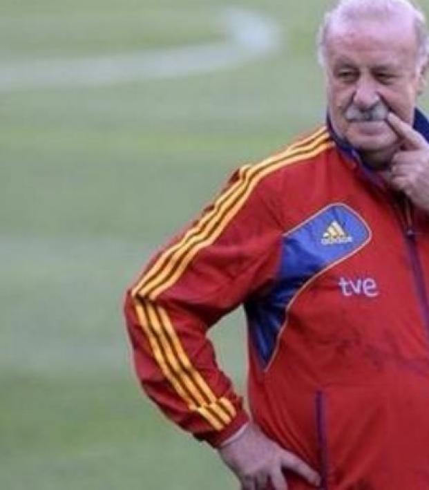 Vicente Del Bosque at Spain training