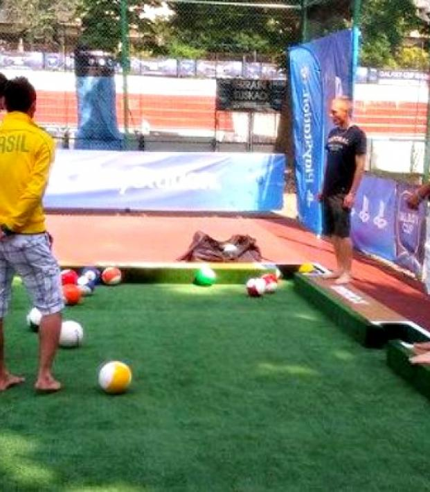 Soccer Meet Billiards New Hybrid Game A Must See The - Kickball pool table
