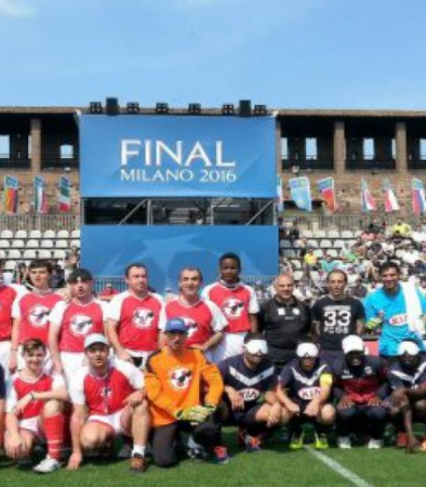 Blind Soccer Teams Win Over Fans at UEFA Champions Festival