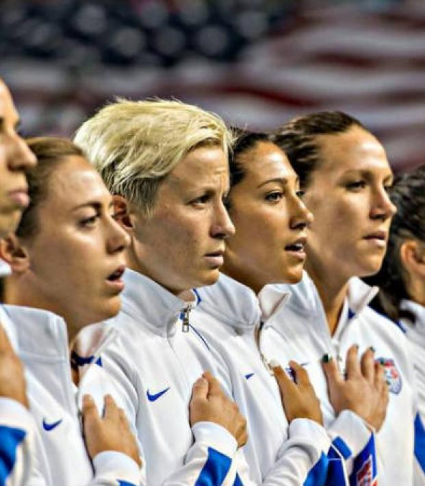 3c5197a5c41 The United States Women s National Team sings the National Anthem