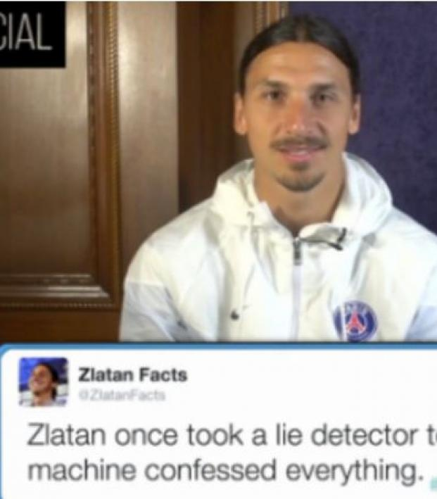 Zlatan reads Zlatan facts