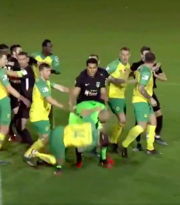 Welsh Premier League fight