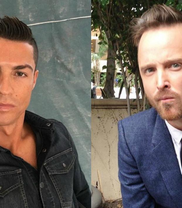 Cristiano Ronaldo And Breaking Bad Star Aaron Paul Face Off In A