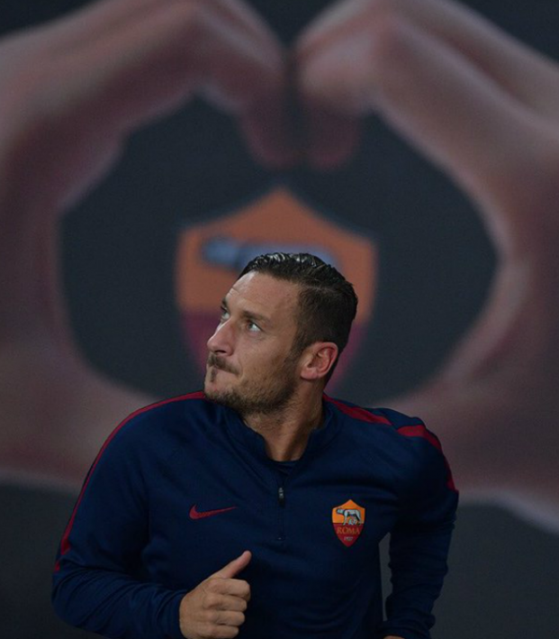 Francesco Totti turned 40 on Tuesday.