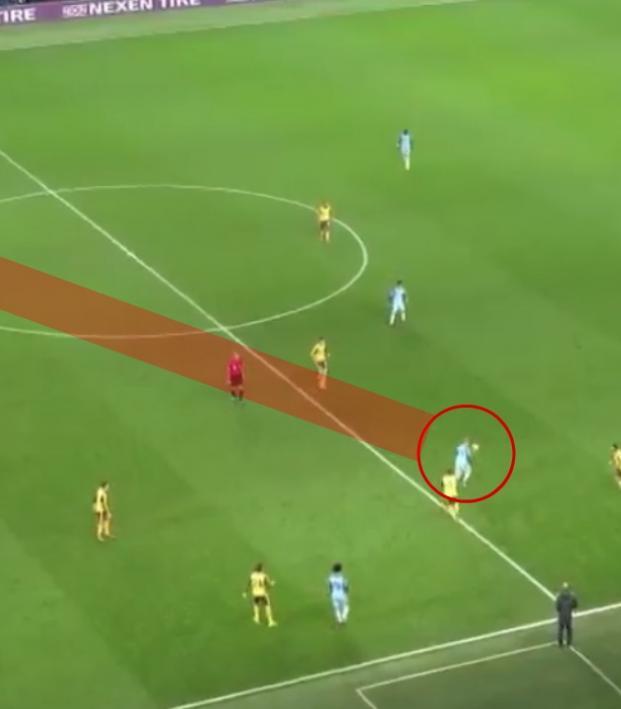 Kevin De Bruyne's assist vs. Arsenal