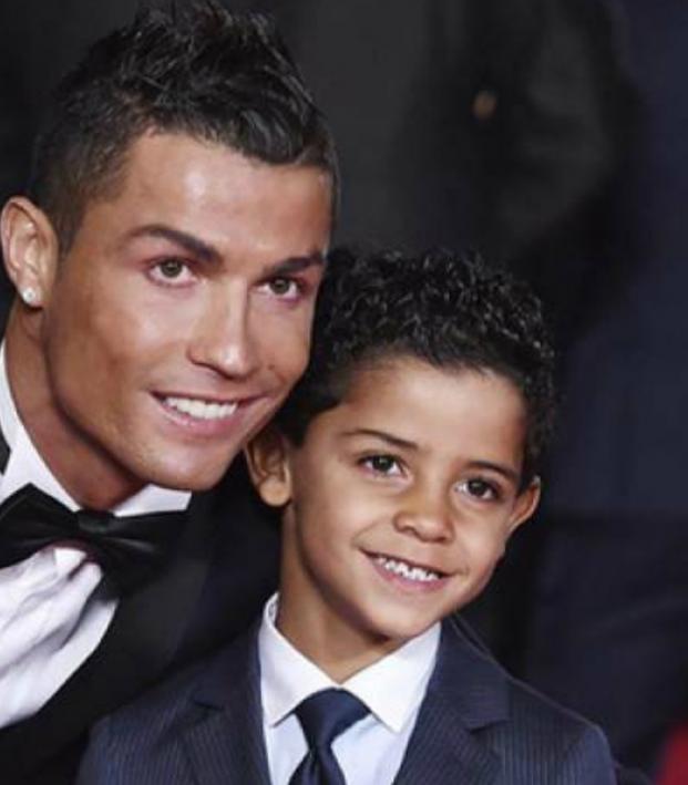 Cristiano Ronaldo and Cristiano Jr
