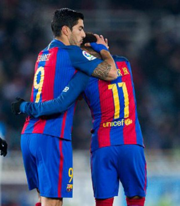 Lionel Messi, Luis Suarez and Neymar